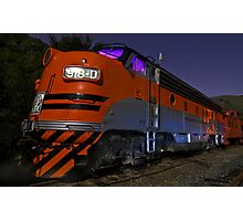 Western Pacific's F7 at Night Photographic Print