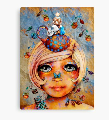 There's a Butterfly on my Nose Canvas Print