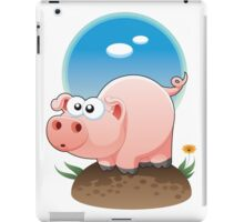 Cartoon Pig design t-shirt iPad Case/Skin
