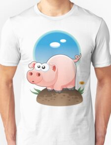 Cartoon Pig design t-shirt Unisex T-Shirt