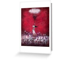 loVe protects me Greeting Card