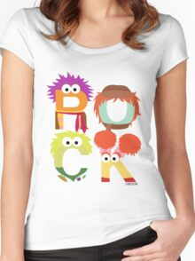 """A Fraggle """"ROCK"""" Women's Fitted Scoop T-Shirt"""