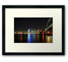 Sydney At Night - HDR Framed Print