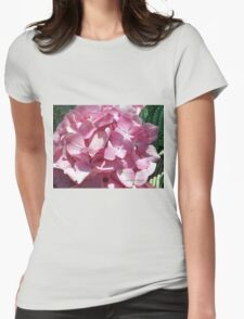 flower pink Womens Fitted T-Shirt