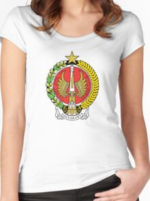 Coat of Arms of Yogyakarta Women's Fitted Scoop T-Shirt