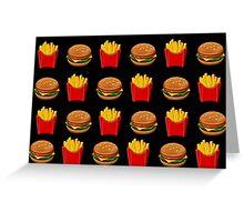 Burger & Fries Emojis Greeting Card