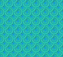 Teal Parasols Pattern by PETER GROSS