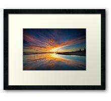 Orange blot dawn Framed Print