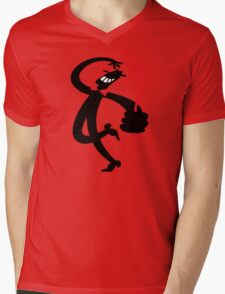 Man with a Red Rose Mens V-Neck T-Shirt