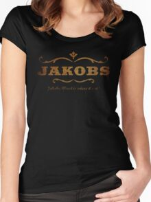 JAKOBS- WOOD IS WHERE IT'S AT! Women's Fitted Scoop T-Shirt