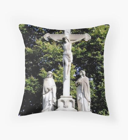 Women: Last At The Cross; First At The Tomb Throw Pillow