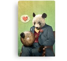 Wise Panda: Love Makes the World Go Around! Metal Print