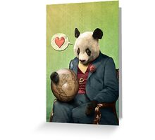 Wise Panda: Love Makes the World Go Around! Greeting Card