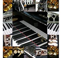 Play the Pretty Notes! Music Collage Photographic Print