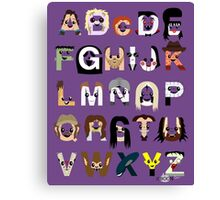 Horror Icon Alphabet Canvas Print