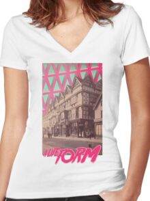 History Revived I Women's Fitted V-Neck T-Shirt