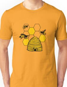 Bee happy in yellow Unisex T-Shirt