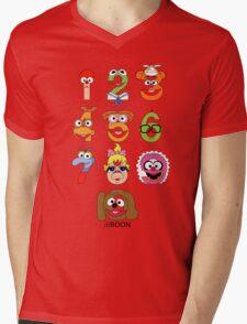 Muppet Babies Numbers Mens V-Neck T-Shirt