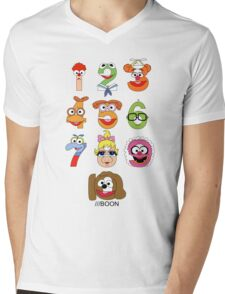 Muppet Babies Numbers Mens V-Neck T-Shirt