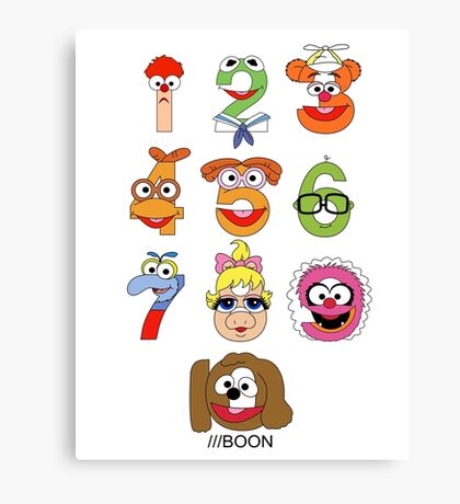 Muppet Babies Numbers Canvas Print