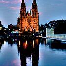 St Marys Cathedral - Sydney Festival First Night - Australia by Bryan Freeman