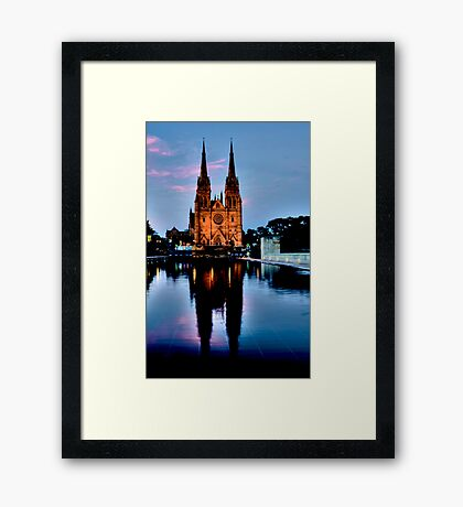 St Marys Cathedral - Sydney Festival First Night - Australia Framed Print