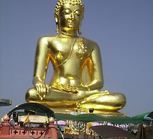 Golden Triangle Buddha, Thailand. by Mywildscapepics