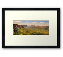 True Blue - Govetts Leap - Blue Mountains World Heritage Area , Sydney - The HDR Experience Framed Print