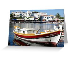The port of Nicolaos. Greeting Card