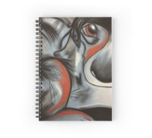 Patchwork Puppy in Blue Spiral Notebook