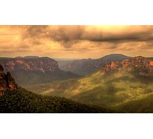 Light In The Valley - Govetts Leap, Blue Mountains, Sydney Australia - The HDR Experience Photographic Print