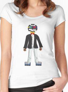 Retro Geek Chic - original Women's Fitted Scoop T-Shirt