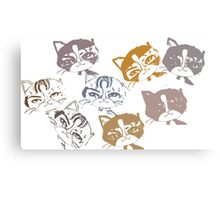 Several cats Canvas Print