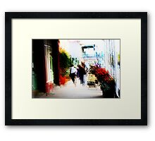Downtown Daylesford Framed Print