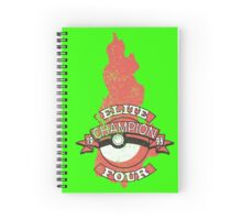 Elite Four Champion Flame Spiral Notebook