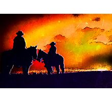 Contrasted Cowboys Photographic Print
