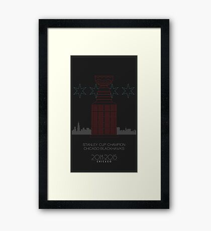 Stanley Cup Champion Blackhawks Framed Print