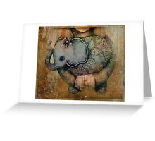 Paisley Elephant Greeting Card