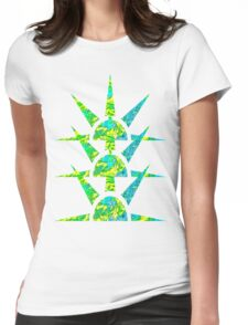 Suns in Green and Yellow Womens Fitted T-Shirt