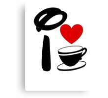 I Heart Tea Cups Canvas Print