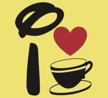 I Heart Tea Cups Kids Tee