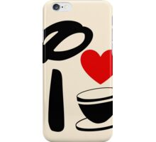 I Heart Tea Cups iPhone Case/Skin