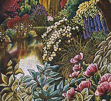 Monets Garden Reflections by Gigi Butterfly Hoeller