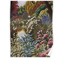 Monets Garden Reflections Poster