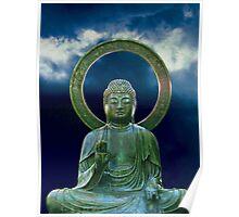 Bronze Buddha photo painting Poster
