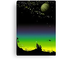 Sunset on planet Mobilia Canvas Print