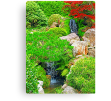 Garden Waterfalls photo painting Canvas Print