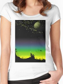 Sunset on a marvelous alien planet Women's Fitted Scoop T-Shirt