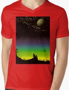 Sunset on a marvelous alien planet Mens V-Neck T-Shirt