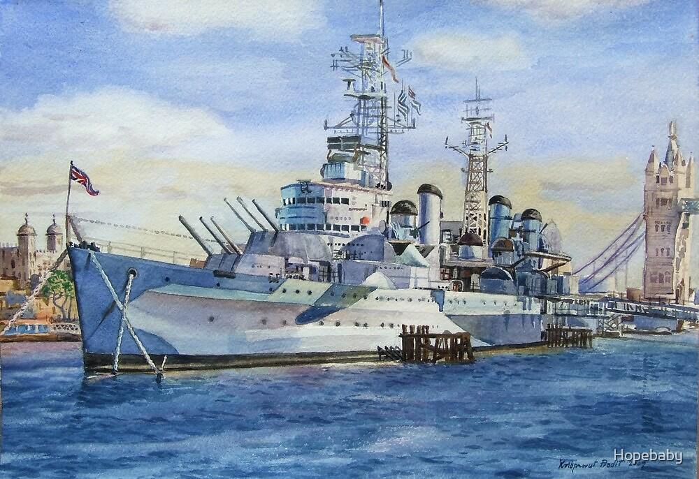 HMS Belfast by Hopebaby